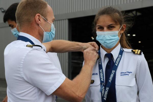 Airbus Flight Academy graduation Airbus cadets
